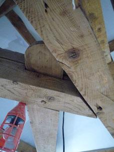 Remplacement d'un entrait en vieux bois