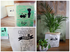 workshop handlettering paperbag
