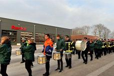 Feierlicher Einzug der Freiwilligen Feuerwehr in das neue Gebäude im März 2018