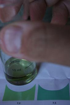 おもむろに水質をリサーチし         (ここの水質は中性。思ったよりPH高いのはなぜ???)