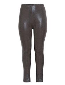 bequeme stylische Legging braun schlangendruck in Größe 50