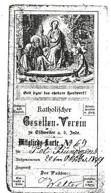 """""""Mitgliedskarte Nr. 69 für Peter Bündgens"""""""