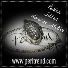 Perlen Silber diverse Motive www.perltrend.com