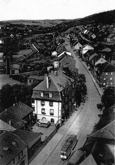 dudweiler, saarbruecker strasse, haus armbrust, bierverlag, getraunkevertrieb, 1913