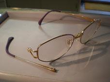 お気に入りの眼鏡は是非とも直したい