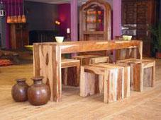 Shesham hout tafel stoelen India