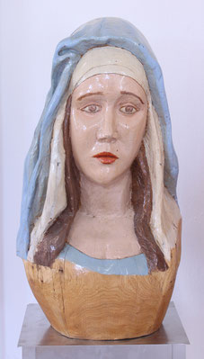 "Jan Gottschalk, ""Madonna III"", Skulptur, Holz / Lack"