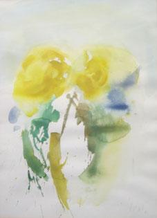 "Karl Korab,  ""Blumen"", 1986, Aquarell, 54x40cm"
