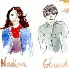 Nadine et Gérard. Dessin d'Amandine Maria-cevennes