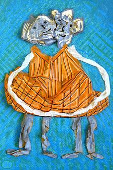 Mme et Mme 4: Papier, Acryl im Bildkasten, 35 x 25 cm, 2015