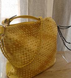 großer gelber Shopper - Tasche reduziert