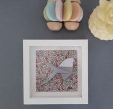 Cadre origami Mésange - Format 14x14cm - 25€ (plusieurs formats disponibles)