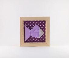 cadre origami poisson pour décoration chambre enfant