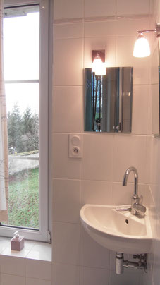 La salle de douche de la chambre Tilleul