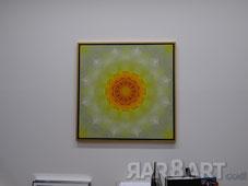 Leinwand mit Gold-Schattenfugenrahmen, 60x60cm