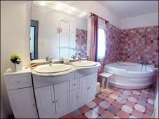 Salle de bain de l'hébergement