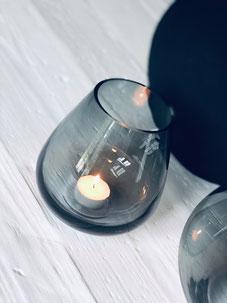vase noir transparent, vase, bougeoir noir, déco scandinave
