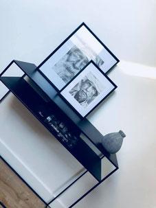 console scandinave, console noire en métal, console noire, meuble noir, cadre berbère, home decor, home shopping