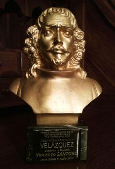 La statuetta del Premio raffigurante il busto del pittore Velàzquez