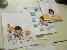 創作絵本コースの絵本塾授業風景の画像