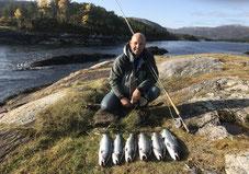 Lachse angeln in Norwegen, Straumen, Blinkerrute