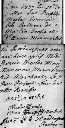 Archives départementales du Nord, paroisse de Feignies, 5 Mi 003 R 008