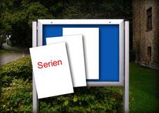 Schaukasten Kirche Plakate Serien