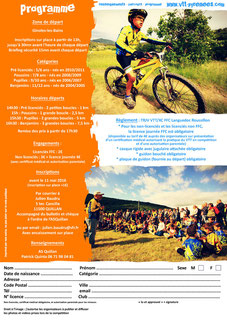 Programme Mini Carach Bike 2016