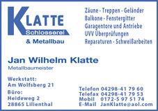 Lilienthal OHZ, ROW Schlosserei