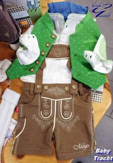 baby-tracht-bub-braune-lederhose-grüne-weste-wandls-gwandl