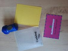Embossing met embossing folders - slakkenpost.nl