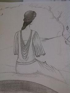 Boceto Vestido de día