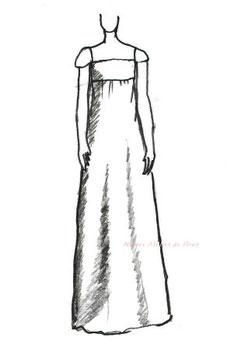 ドレスのシルエット エンパイア