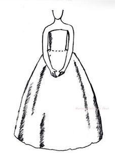 ドレスのシルエット ボールガウン