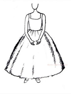 ドレスのシルエット バレリーナ