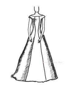 ドレスのシルエット プリンセスライン