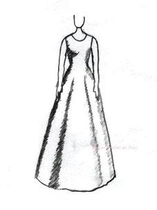 ドレスのシルエット Aライン