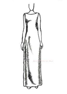 ドレスのシルエット シーズライン