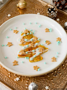 Weihnachtsbaum-Pfannkuchen