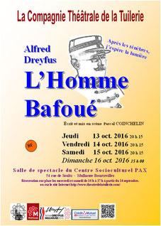 Pièce officiel des festivités organisé par la Ville de Mulhouse à l'occasion des 15 ans de la réabilitation du Capitaine Dreyfus. Ce spectacle à impréssioné beaucoup de spectateurs.