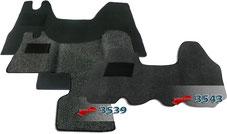 Autoteppich/ Autofussmatte für Nissa Interstar T35, X70, Nissan NV 400, primastar