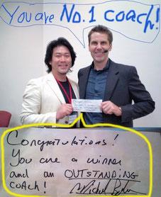 マイケル・ボルダック公認コーチプログラム「クライアント獲得チャレンジでは、28日間で428万円のコーチング契約を獲得して参加者でNo,1になりました」