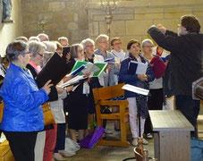 Répétition de la chorale paroissiale (sur Pleyber)