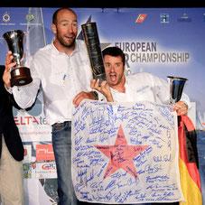 Einer der größten Einzelerfolge: Polgar/Koy; Europameister 2010