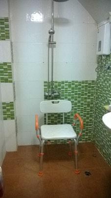 Siège douche fixe