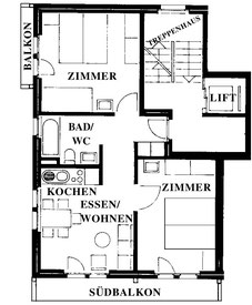 План апартаментов № 2