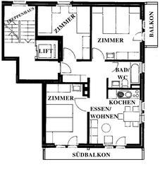 План апартаментов № 1