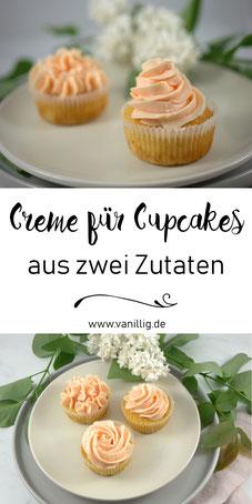 Creme für Cupcakes und Torten Dekoration