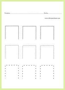 grafo-motricidad / orientación espacial abajo
