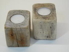 --DUO-- Teelichthalter aus Treibholz